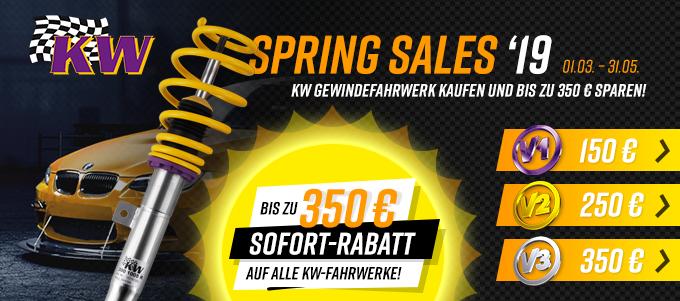 KW Gewindefahrwerk Spring Sale Aktion 2019